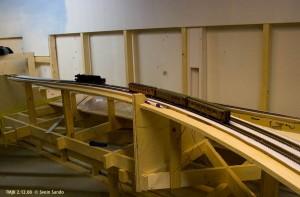 Første tog til Olmli stasjon 2.12.08