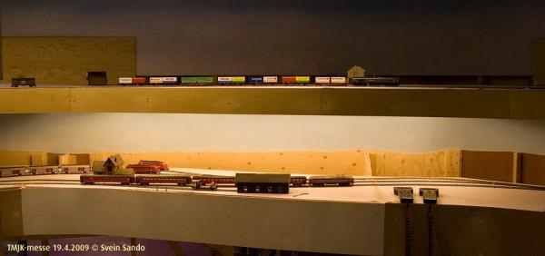 Endelig gikk det tog på både Vindheim og Undredal på fastanlegget vårt.