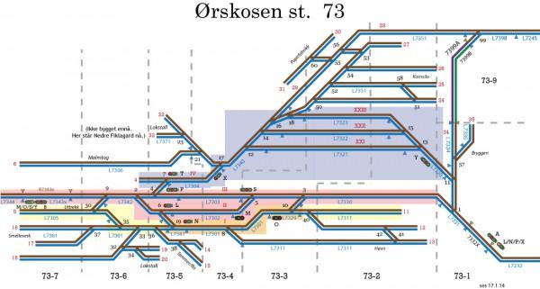 Skjematisk plan Ørskosen st