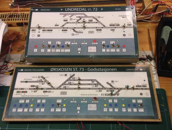 Teststillverk for Undredal og Ørskosen begynner å materialisere seg på arbeidsbordet.