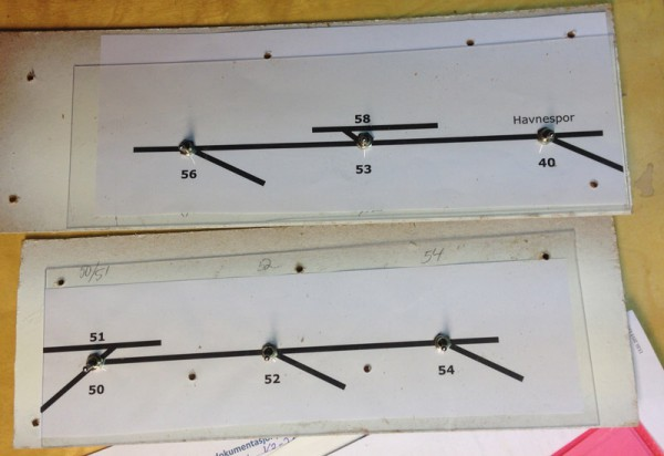 Bakplate + papir med symboler og tekst + 0,75 mm Lexan