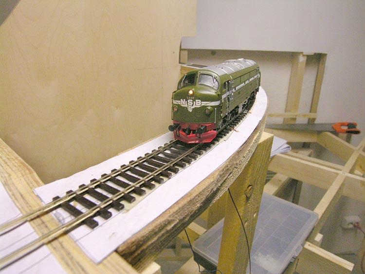 Første tog opp Olmliene 2.12.2008
