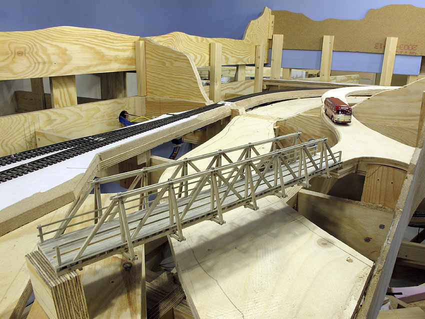 Prøveplassering av veibroa ved Ødsle